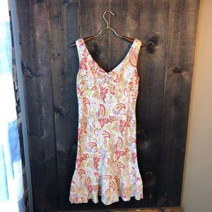 Cabi Paisley Floral Ruffle Dress